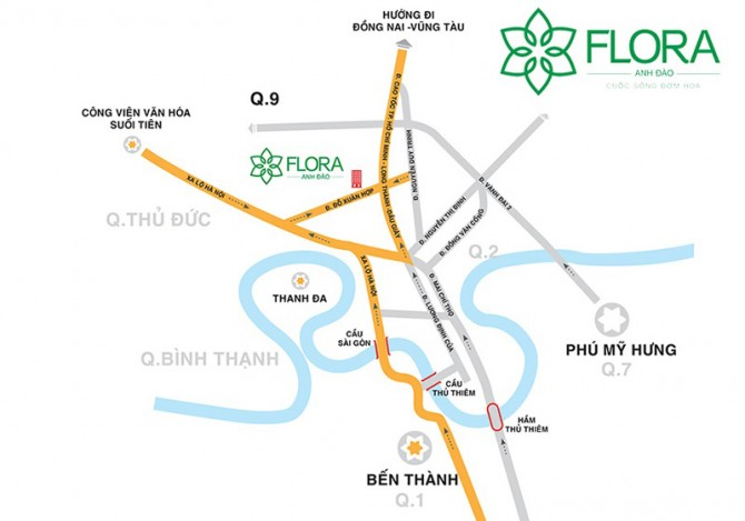 vi tri can ho flora anh dao