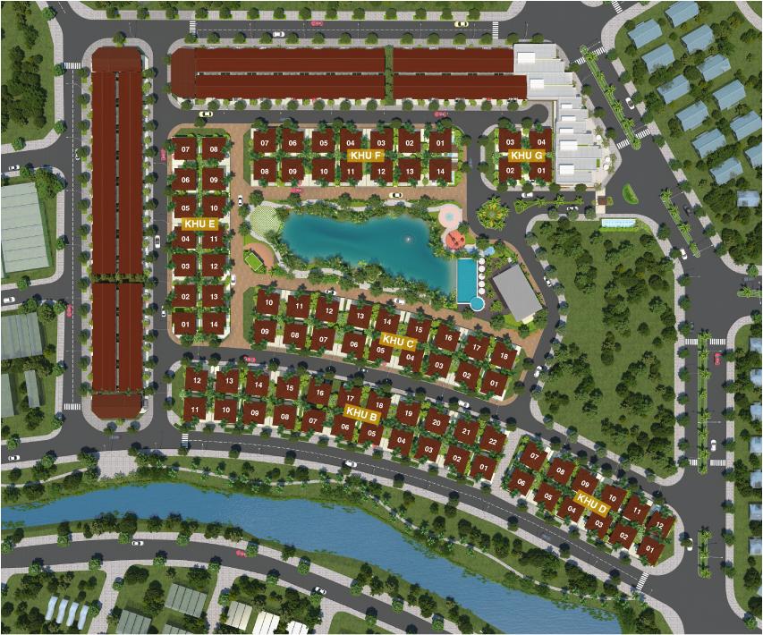 Hình ảnh thực tế của dự án biệt thự nhà phố Camellia Garden Bình Chánh